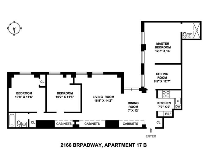 2166 Broadway, Upper West Side, NYC, $1,460,000, Web #: 3775951
