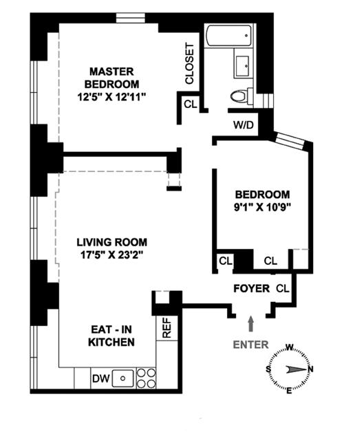 250 West 103rd Street, Upper West Side, NYC, $975,000, Web #: 3813978