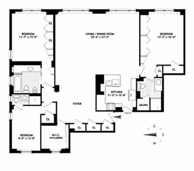 135 East 54th Street, Midtown East, NYC, $1,500,000, Web #: 3838939