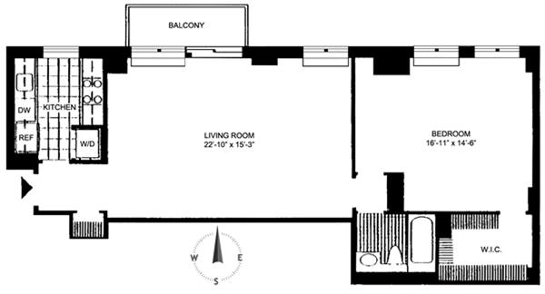 222 Riverside Drive, Upper West Side, NYC, $1,050,000, Web #: 3865769