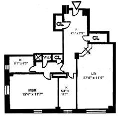 25 Central Park West, Upper West Side, NYC, $1,500,000, Web #: 3869968