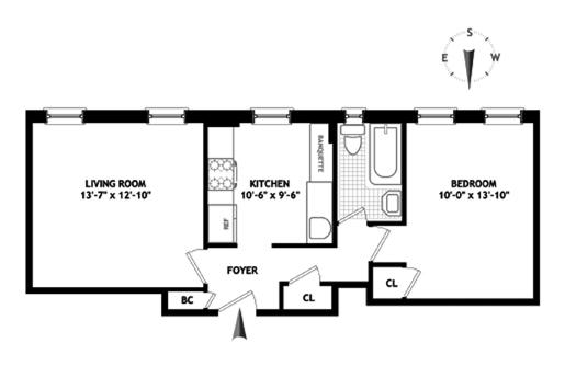 130 West 16th Street, Greenwich Village/Chelsea, NYC, $770,000, Web #: 3885324