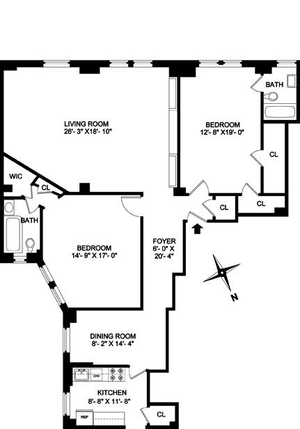 160 Riverside Drive 3C, Upper West Side, NYC, $1,425,000, Web #: 3936117