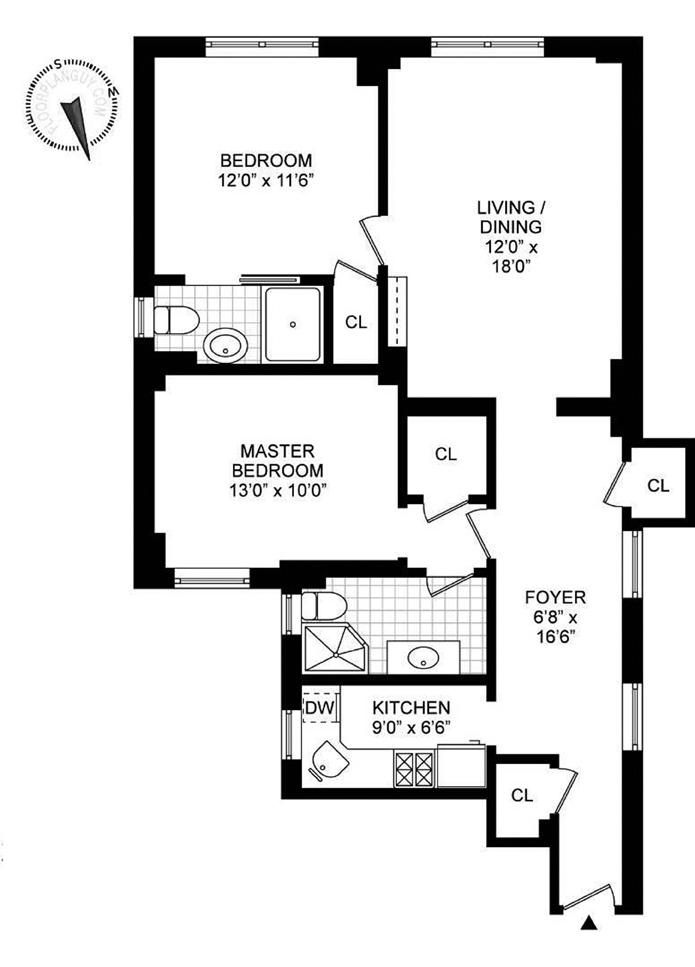 205 West 54th Street, Midtown West, NYC, $980,000, Web #: 3971836