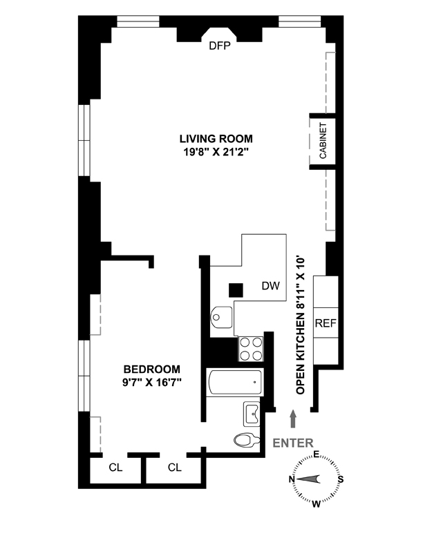 127 West 79th Street, Upper West Side, NYC, $782,000, Web #: 4010817