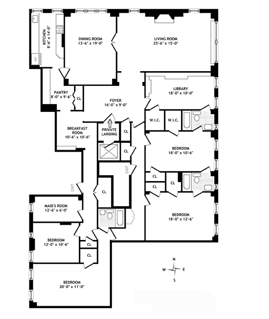 1088 Park Avenue, Upper East Side, NYC, $4,600,000, Web #: 407188