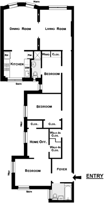 324 West 83rd Street, Upper West Side, NYC, $1,330,000, Web #: 448292