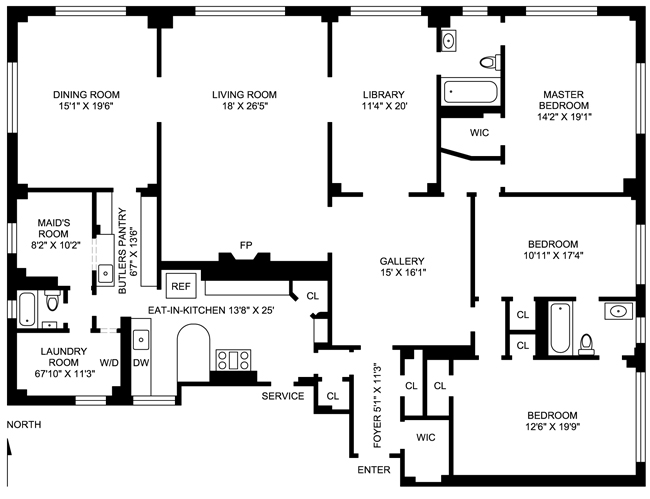 930 Park Avenue, Upper East Side, NYC, $7,210,000, Web #: 470408