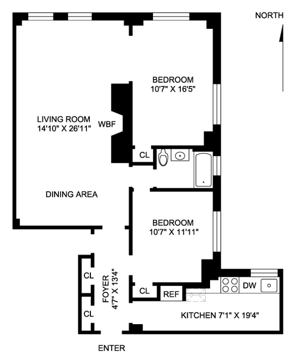 50 West 67th Street, Upper West Side, NYC, $1,295,000, Web #: 478649