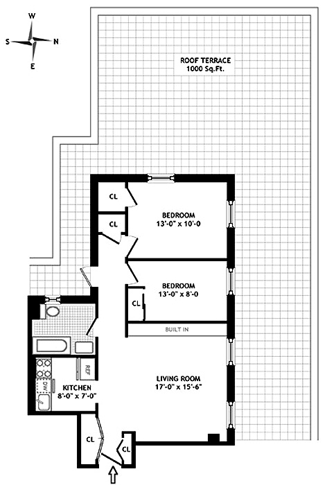 310 West 72nd Street, Upper West Side, NYC, $925,000, Web #: 480667