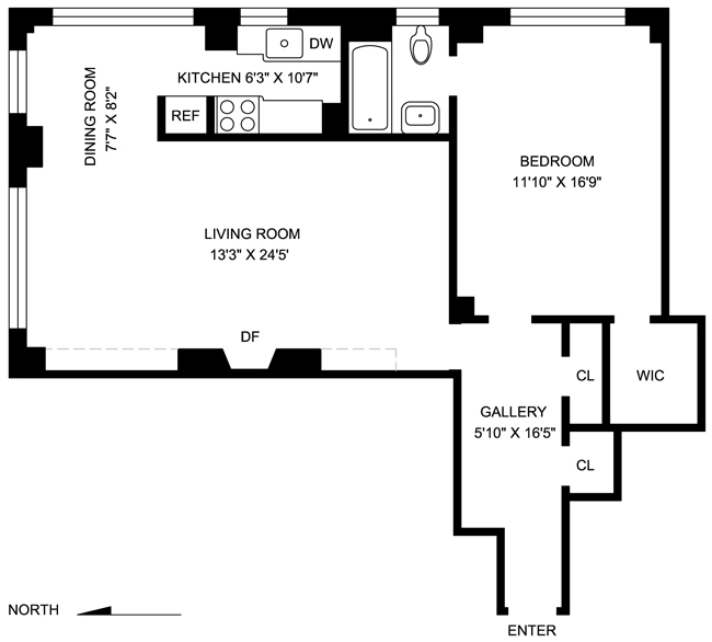 225 East 73rd Street, Upper East Side, NYC, $665,000, Web #: 481124