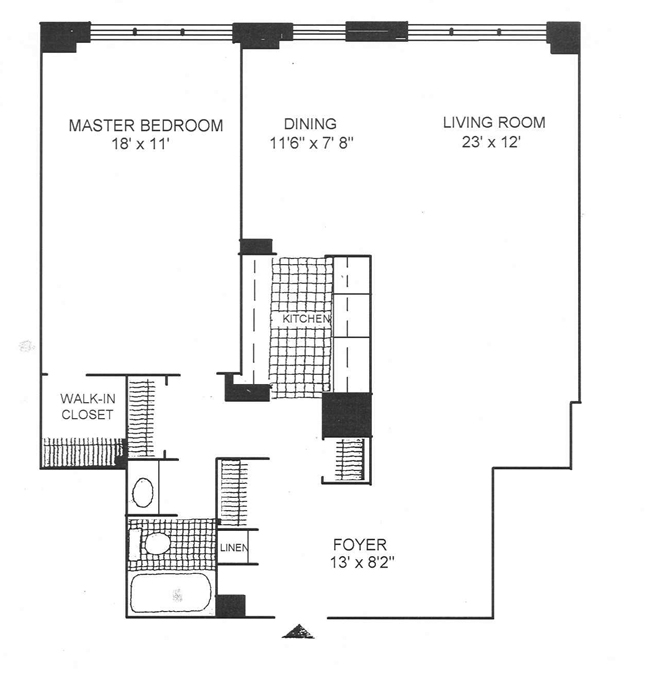 300 East 40th Street, Midtown East, NYC, $799,000, Web #: 500222