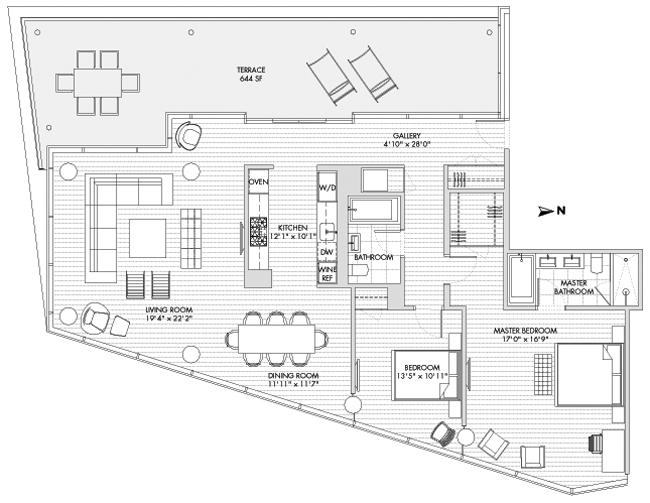 1 York Street 11B, Tribeca/SOHO/Chinatown, NYC, $5,300,000, Web #: 713235