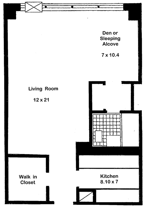 160 West End Avenue, Upper West Side, NYC, $470,000, Web #: 756911