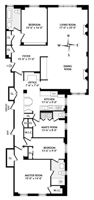 310 West 86th Street, Upper West Side, NYC, $3,175,000, Web #: 766022