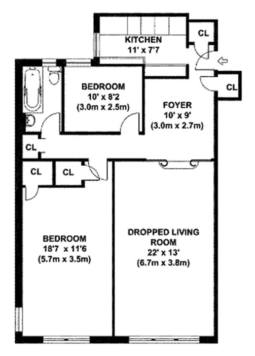 320 West 76th Street, Upper West Side, NYC, $775,000, Web #: 768116