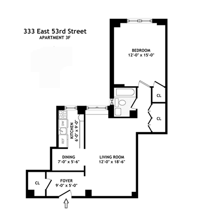 333 East 53rd Street, Midtown East, NYC, $620,000, Web #: 791939