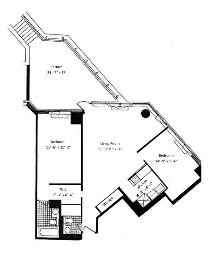 630 First Avenue, Midtown East, NYC, $1,300,000, Web #: 8544483