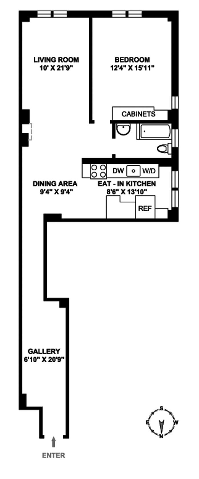 545 West 111th Street, Upper West Side, NYC, $690,000, Web #: 8593140