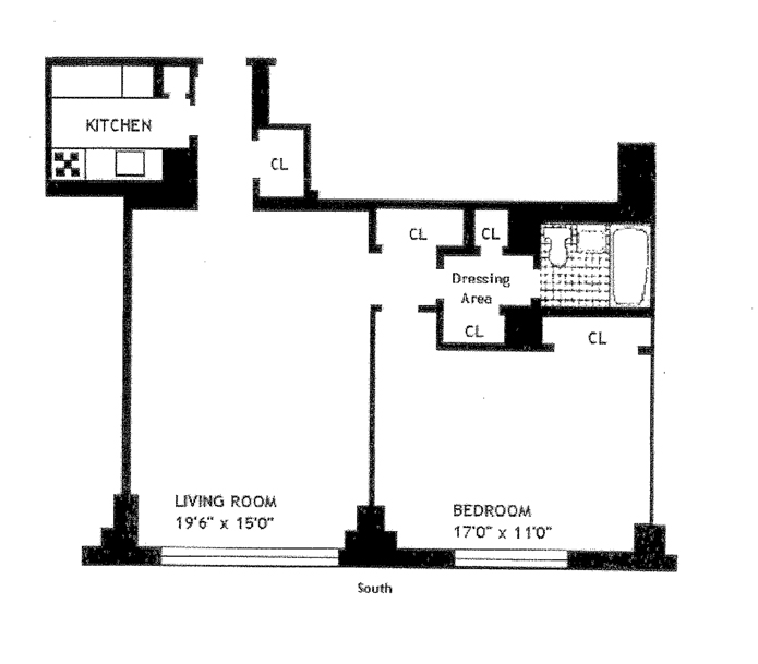 180 West End Avenue 24G, Upper West Side, NYC, $637,500, Web #: 8593543