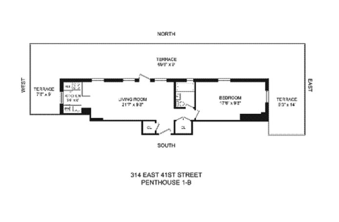 East 41st Street, Midtown East, NYC, $4,600, Web #: 8600663