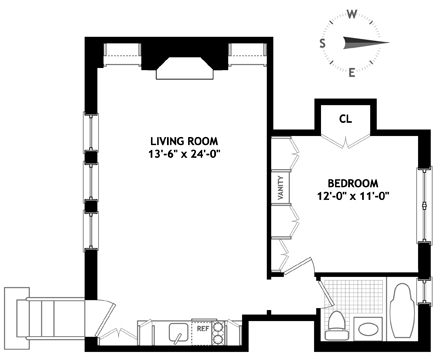 455 East 51st Street, Midtown East, NYC, $575,000, Web #: 8629902