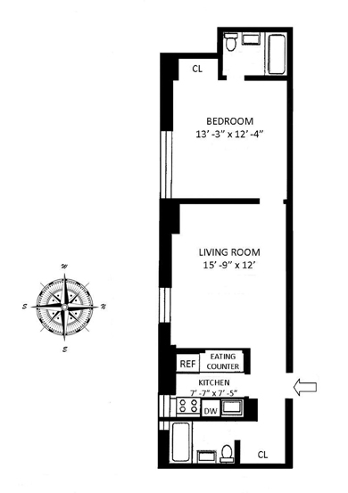 257 Central Park West, Upper West Side, NYC, $540,000, Web #: 8828829