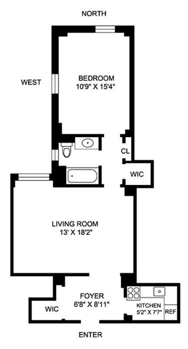 23 West 73rd Street, Upper West Side, NYC, $715,000, Web #: 893476