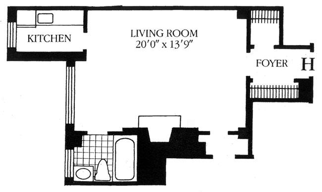 210 East 73rd Street, Upper East Side, NYC, $435,000, Web #: 896359