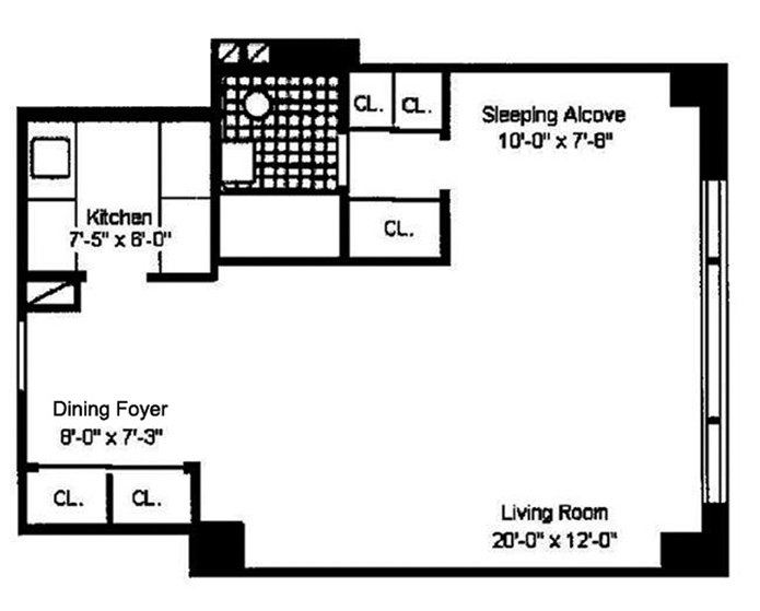 167 East 67th Street 5D, Upper East Side, NYC, $407,500, Web #: 9062377