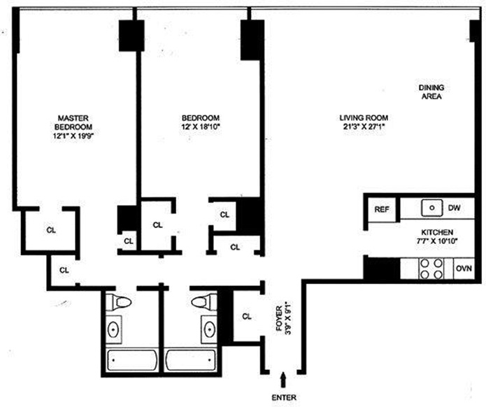 870 United Nations Plaza, Midtown East, NYC, $1,220,000, Web #: 9121747