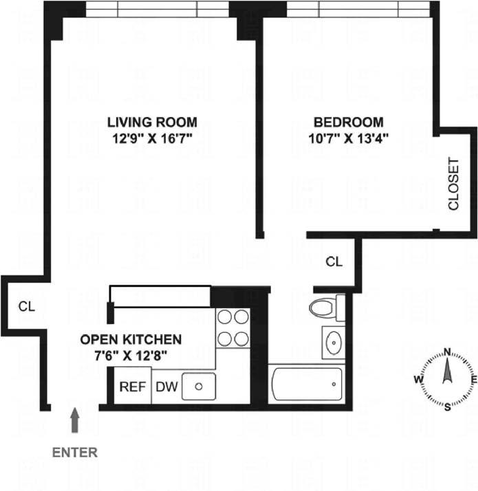 130 West 67th Street, Upper West Side, NYC, $575,000, Web #: 9243404