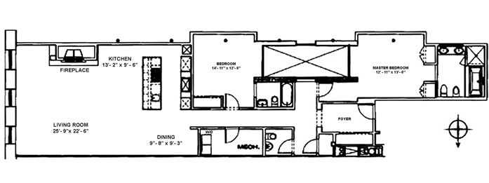 22 Mercer Street, Tribeca/SOHO/Chinatown, NYC, $3,750,000, Web #: 9306640