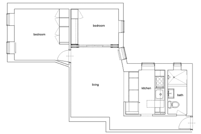 92 Perry Street 12A, West Village, NYC, $4,750, Web #: 9317464