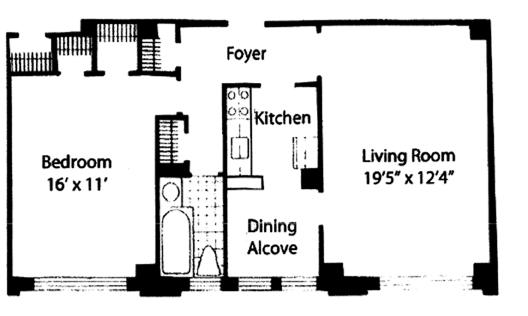 245 East 72nd Street, Upper East Side, NYC, $730,000, Web #: 9332363