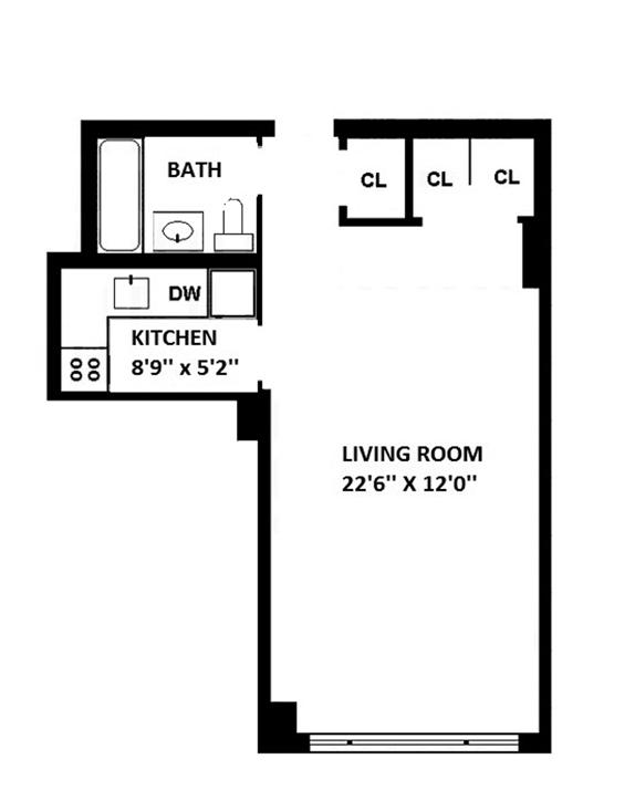 101 West 12th Street, Greenwich Village/Chelsea, NYC, $419,000, Web #: 9352896