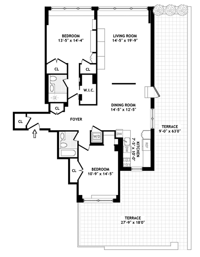 139 East 63rd Street, Upper East Side, NYC, $1,440,000, Web #: 940678
