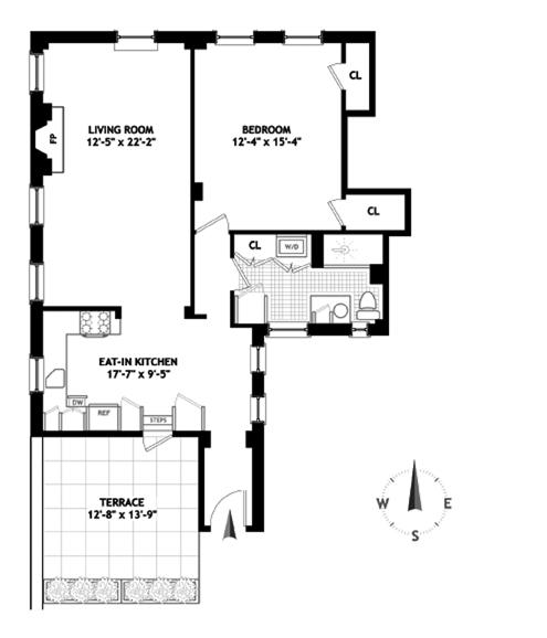205 West 54th Street, Midtown West, NYC, $980,000, Web #: 9508880