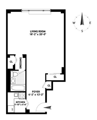 335 East 51st Street, Midtown East, NYC, $490,000, Web #: 9525632