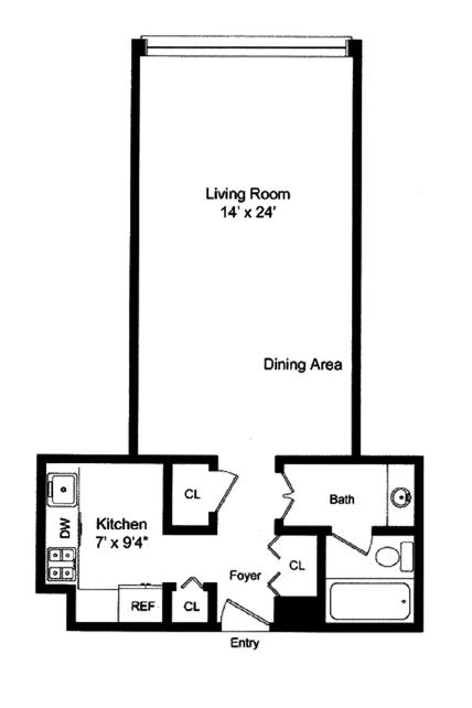 117 East 57th Street, Midtown East, NYC, $735,000, Web #: 9540235