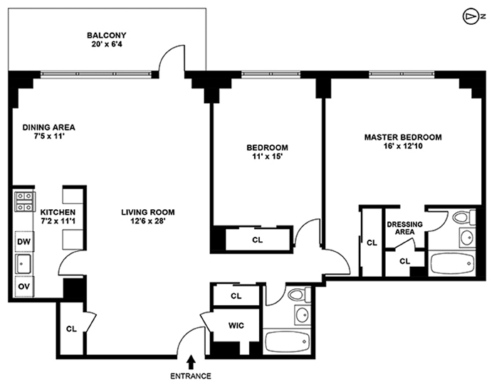 165 West End Avenue, Upper West Side, NYC, $1,285,000, Web #: 9564232
