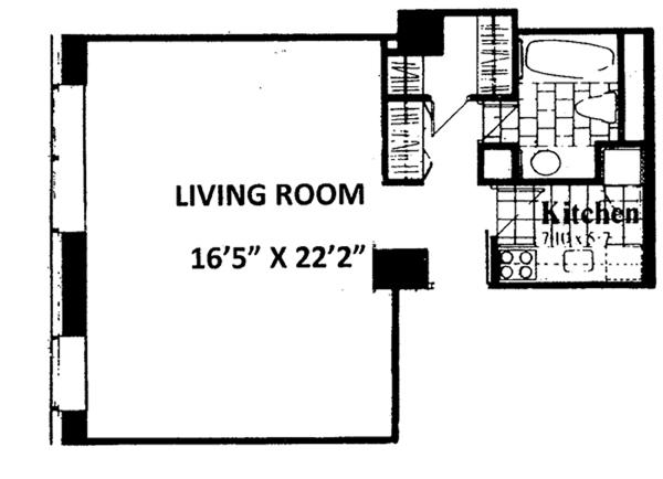West 53rd Street, Midtown West, NYC, $3,500, Web #: 9572068