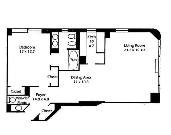 415 East 54th Street, Midtown East, NYC, $1,060,000, Web #: 9631494