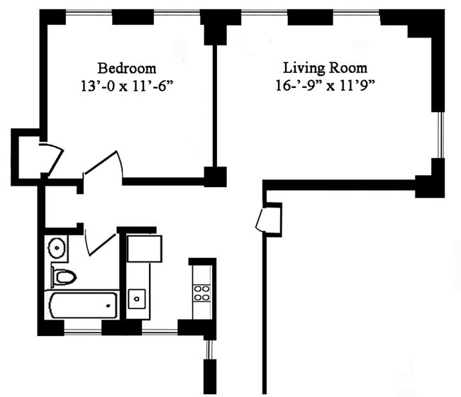 205 West 54th Street, Midtown West, NYC, $470,000, Web #: 965223