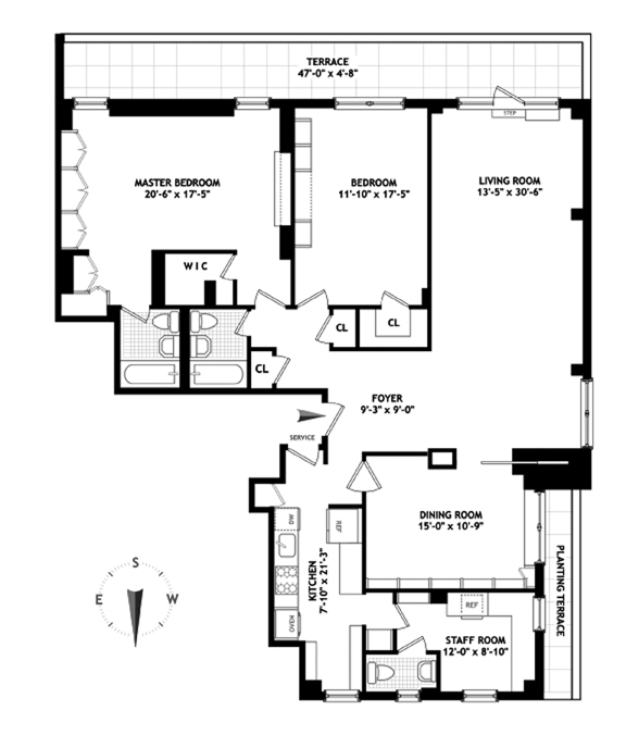 50 Sutton Place South, Midtown East, NYC, $1,725,000, Web #: 9824719