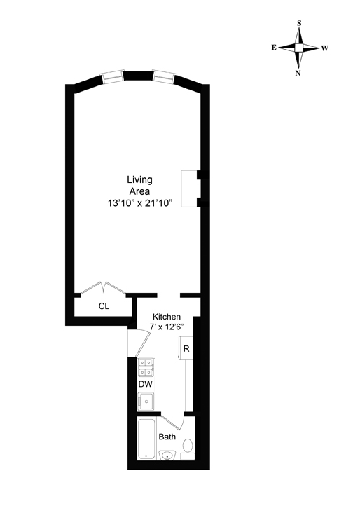 West 70th Street, Upper West Side, NYC, $2,275, Web #: 9848423