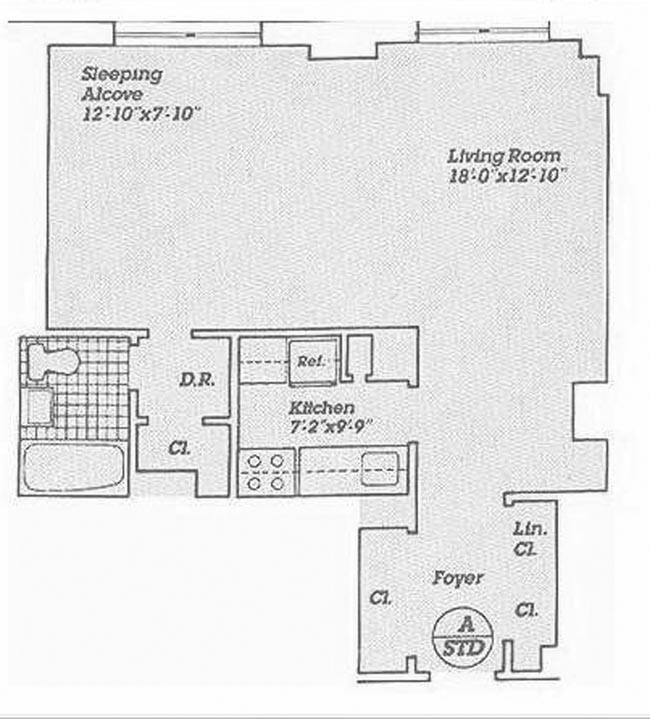 160 West End Avenue, Upper West Side, NYC, $374,000, Web #: 989326