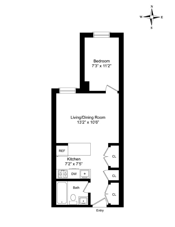 West 70th Street, Upper West Side, NYC, $2,700, Web #: 9894628