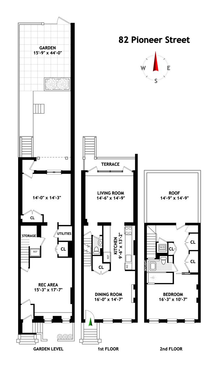 Pioneer Street, Brooklyn, New York, $1,300,000, Web #: 9950464