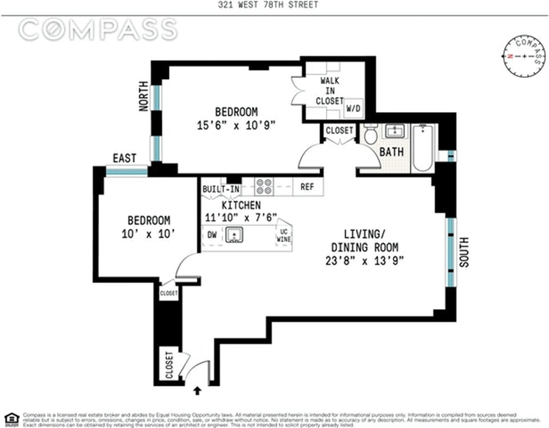 321 West 78th Street, Upper West Side, NYC, $995,000, Web #: 164300